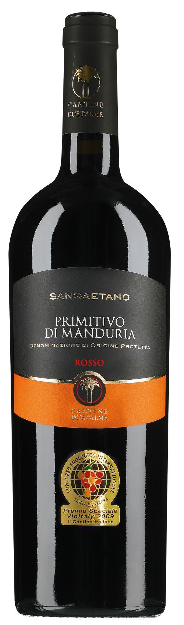 Cantine Due Palme Primitivo di Manduria Sangaetano magnum