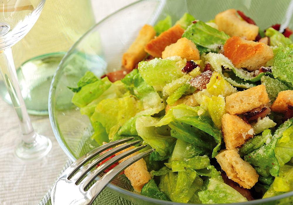 Wijn en salades