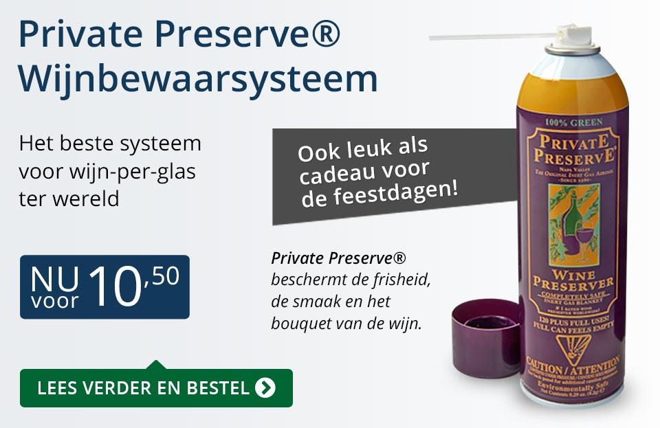 Private Preserve Wijnbewaarsysteem (10,50) - blauw