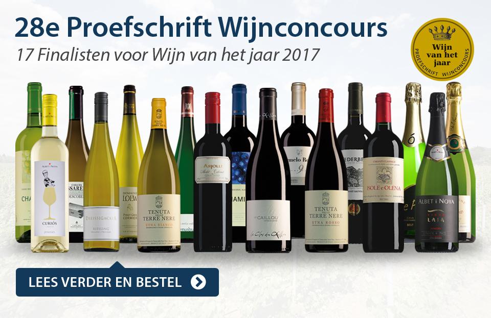 17 Finalewijnen van het 28e Proefschrift Wijnconcours - blauw