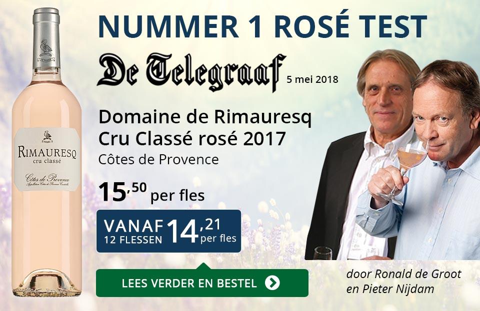Dia Nr 1 Telegraaf rosé test - Rimauresq Cru Classé 2017 - blauw