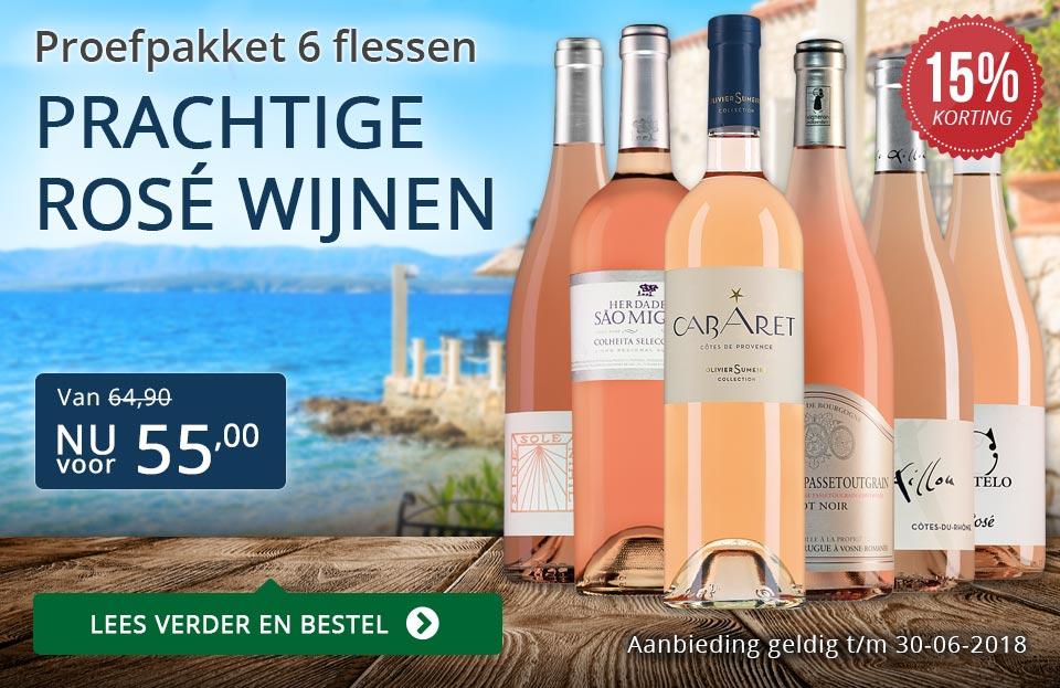 Proefpakket prachtige rosé wijnen (55,00) - blauw