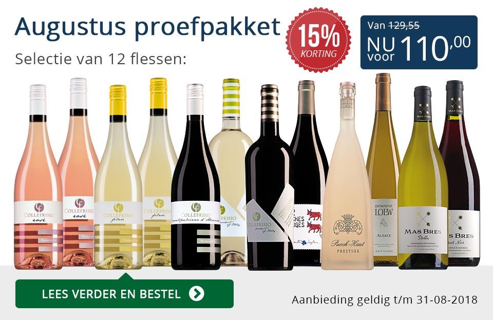 Proefpakket wijnbericht augustus 2018 (110,00) - blauw