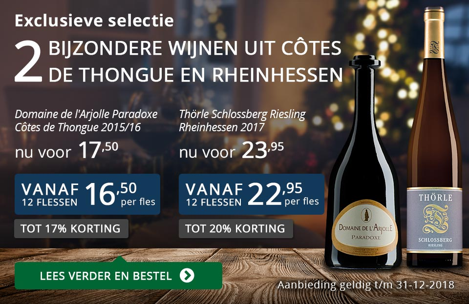 Twee bijzondere wijnen uit Côtes de Thongue en Rheinhessen december 2018 - blauw