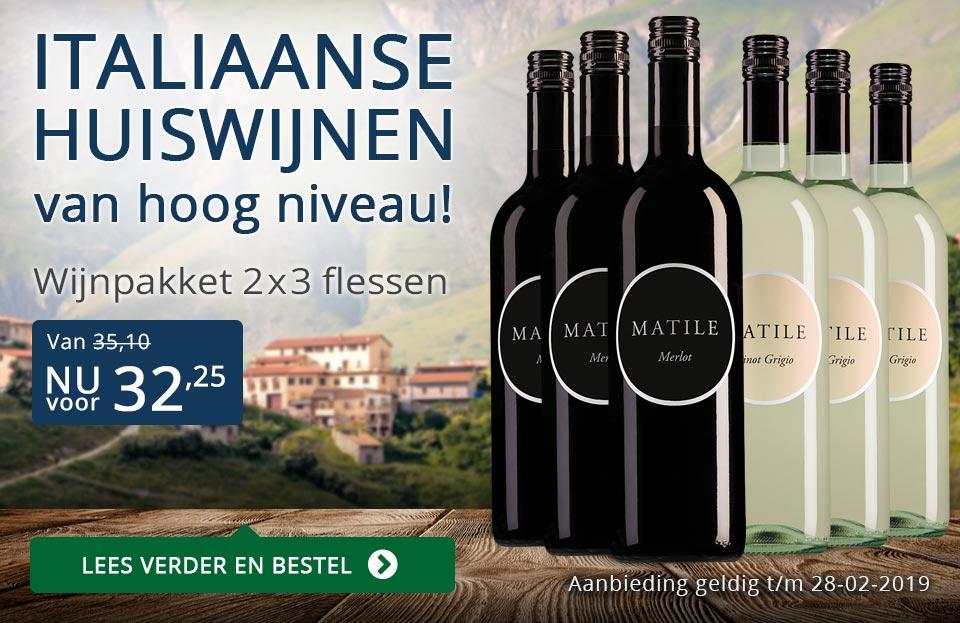 Wijnpakket Matile februari 2019 - blauw