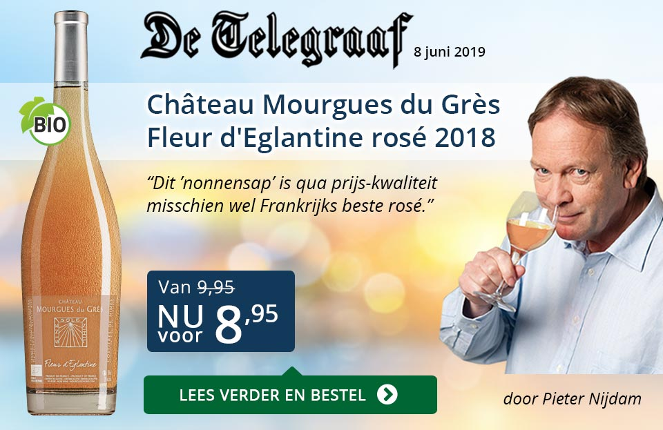 Telegraaf vermelding - Mourgues du Gres - blauw