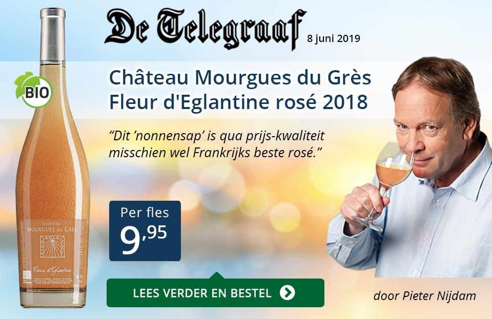 Telegraaf vermelding - Mourgues du Gres ZP - blauw