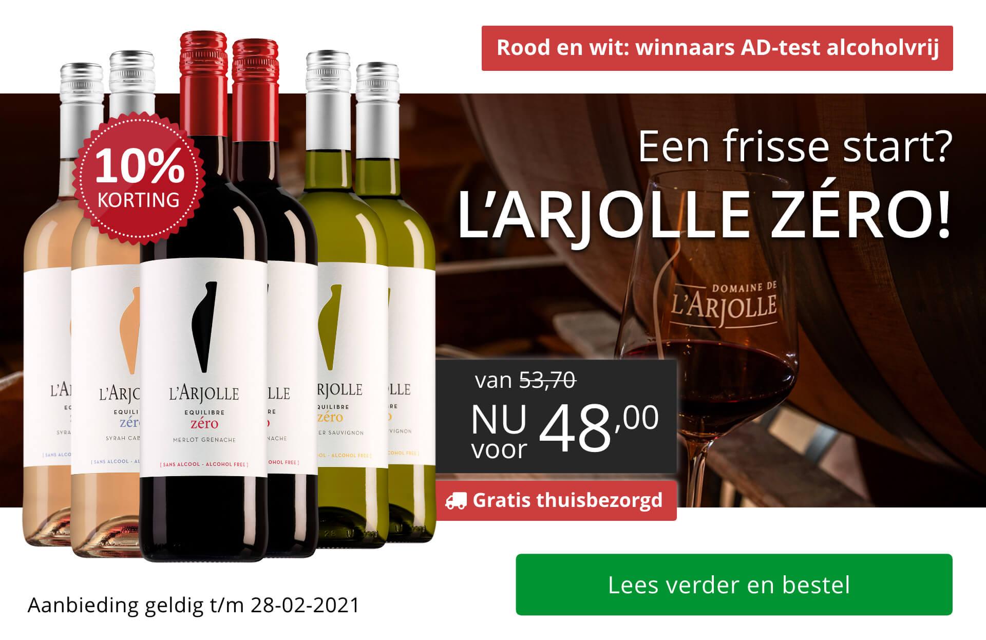 l'Arjolle Zero pakket (Gratis thuisbezorgd)