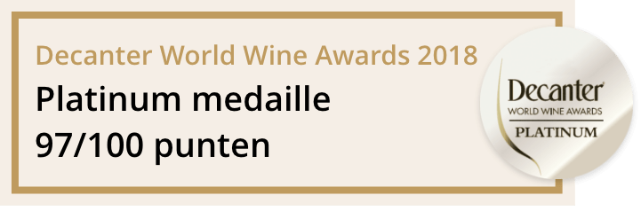 Decanter World Wine Awards 2018: Platinum medaille 97/100 punten