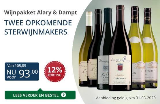 Wijnpakket Alary & Dampt (93,00) - blauw