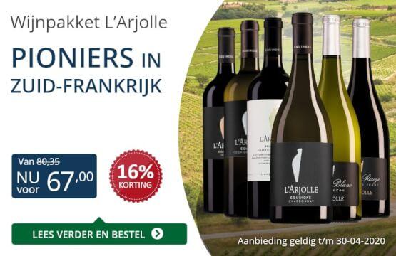 Wijnpakket l'Arjolle(67,00)-blauw